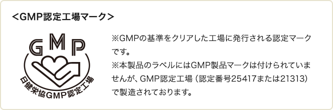 GMP認定工場マーク